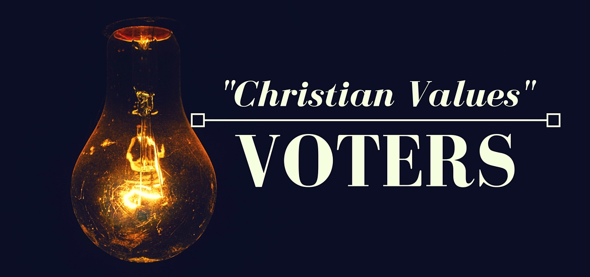 Christian Values Voters - read at Literate Theology / Kate Rae Davis
