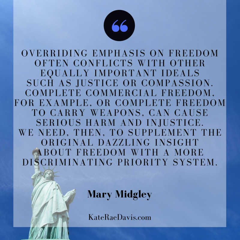 Evaluating the notions of liberty and justice through the lens of scripture - read on KateRaeDavis.com