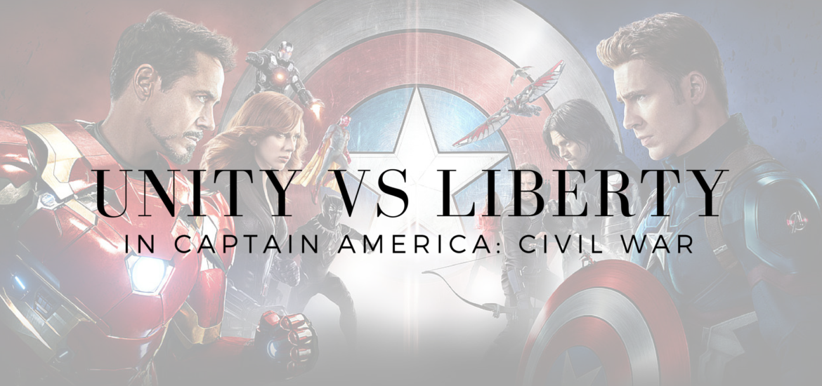 Unity and Liberty compete in Captain America: Civil War . And in our churches. Read on KateRaeDavis.com unity captain america