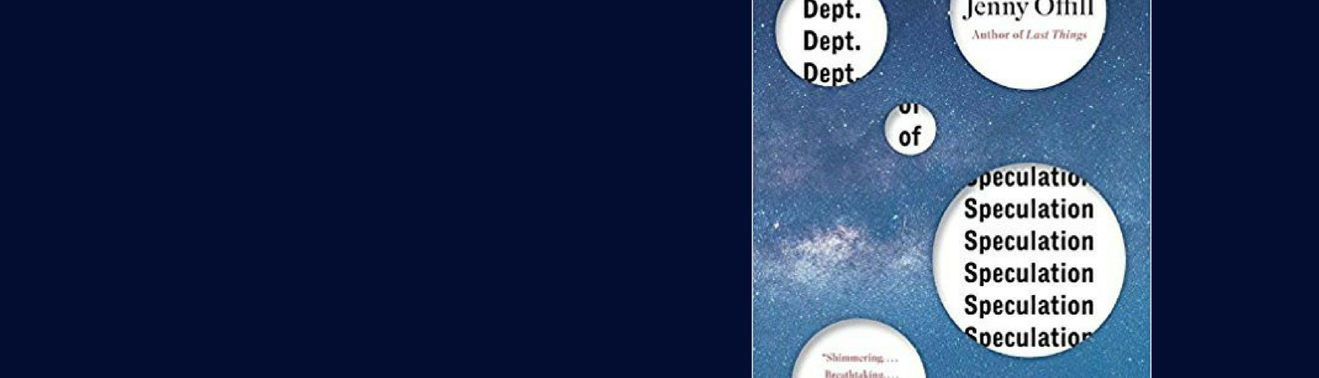 Dept of Speculation by Jenny Offill - a Literary Wives reflection